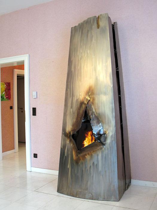 Kaminofen Verkleidung Material offener kamin aus metall verkleidung vom künstler feuerstellen