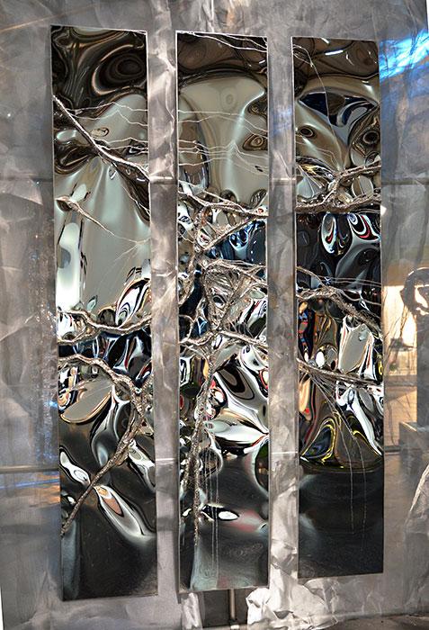 Abstrakte Kunst Aus Edelstahl Wandskulptur Gahr