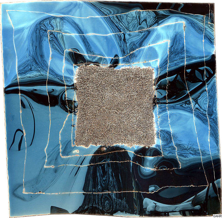 abstrakte kunst wandbild aus edelstahl gahr. Black Bedroom Furniture Sets. Home Design Ideas