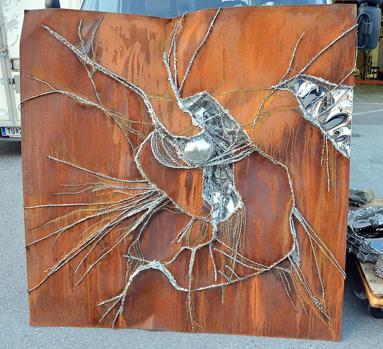 Gahr kunst aus stahl malerei mit dem schweißbrenner