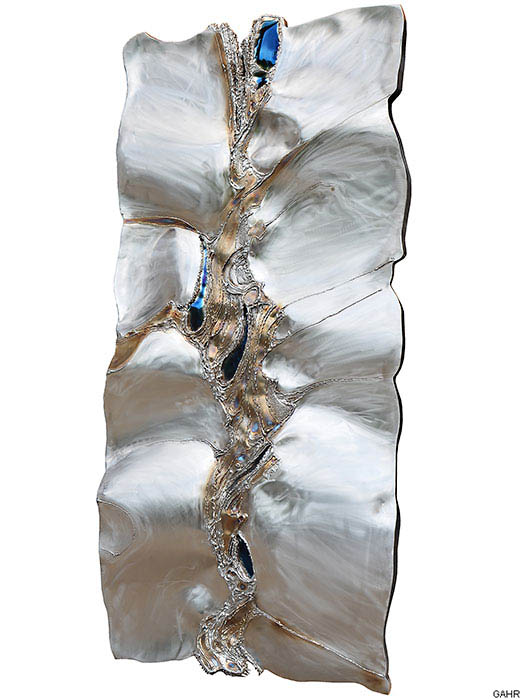 geschwei tes wandobjekt aus edelstahl kunst aus metall kunst f r die wand gahr. Black Bedroom Furniture Sets. Home Design Ideas