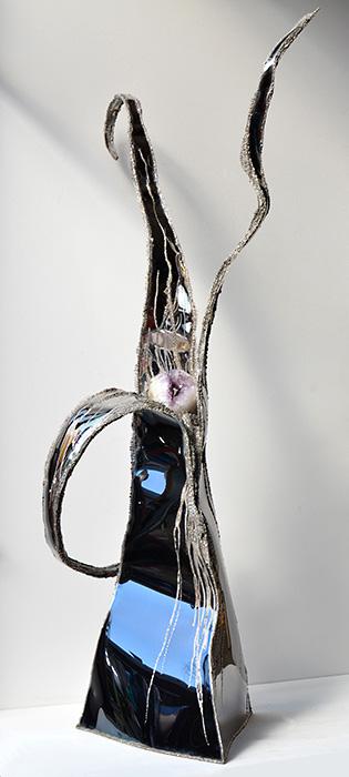 Gartenskulpturen aus metall metallkunst im modernen for Gartenskulpturen metall