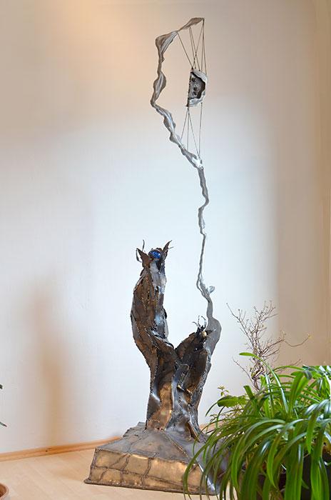 Moderne Skulptur moderne skulptur aus stahl geschweißt metall skulptur robert