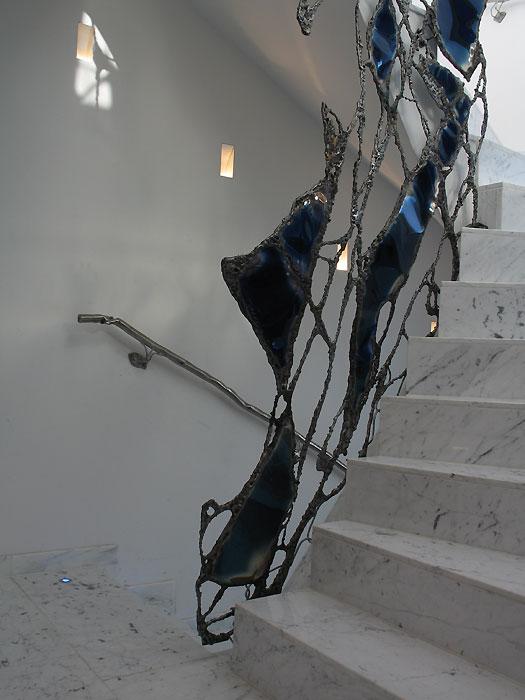 ein treppengel nder aus stahl design kunst und handwerk gahr. Black Bedroom Furniture Sets. Home Design Ideas
