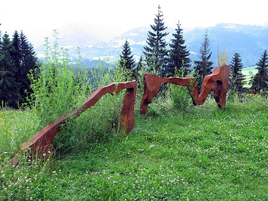 Zaun Zaune Aus Rostigem Stahl Gahr
