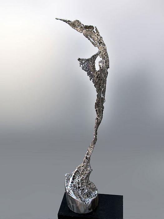 sculpture made of steel gahr. Black Bedroom Furniture Sets. Home Design Ideas
