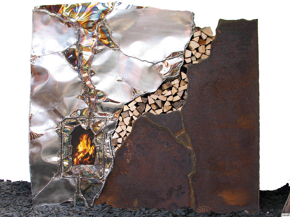 Modern Art Fireplace Mantel - Welded Fireplace for Sale - Buy Art Online & Commission-Free Directly from Artist