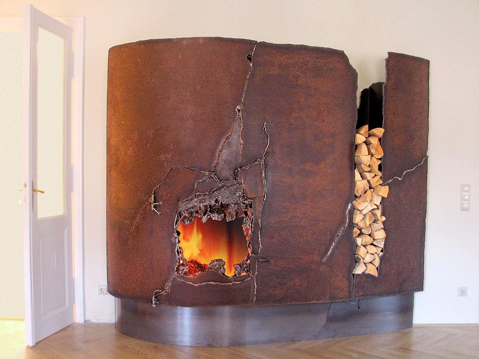 Fireplace Mantels and Fire Sculptures from Metal Artist | GAHR