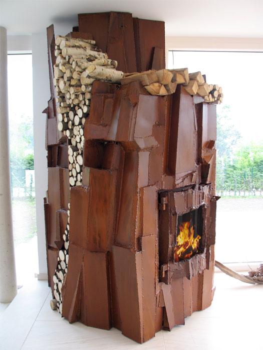 Art Fireplaces And Fire Sculptures By Metal Artist Gahr