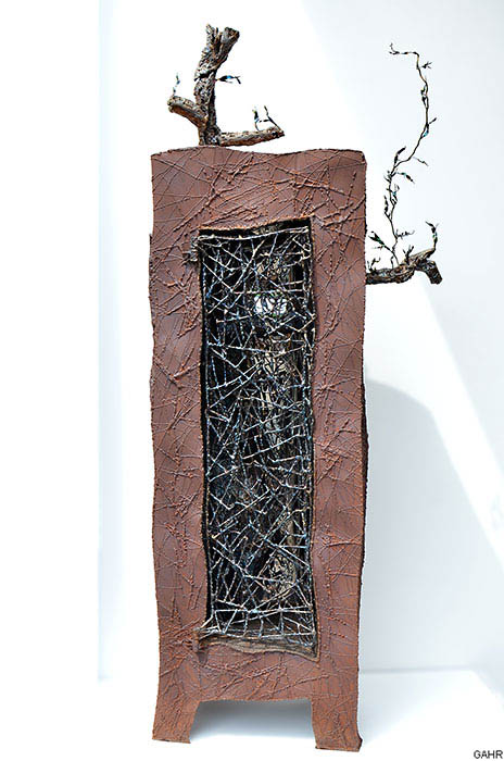 Artistic Metal Cabinet - Welded Art