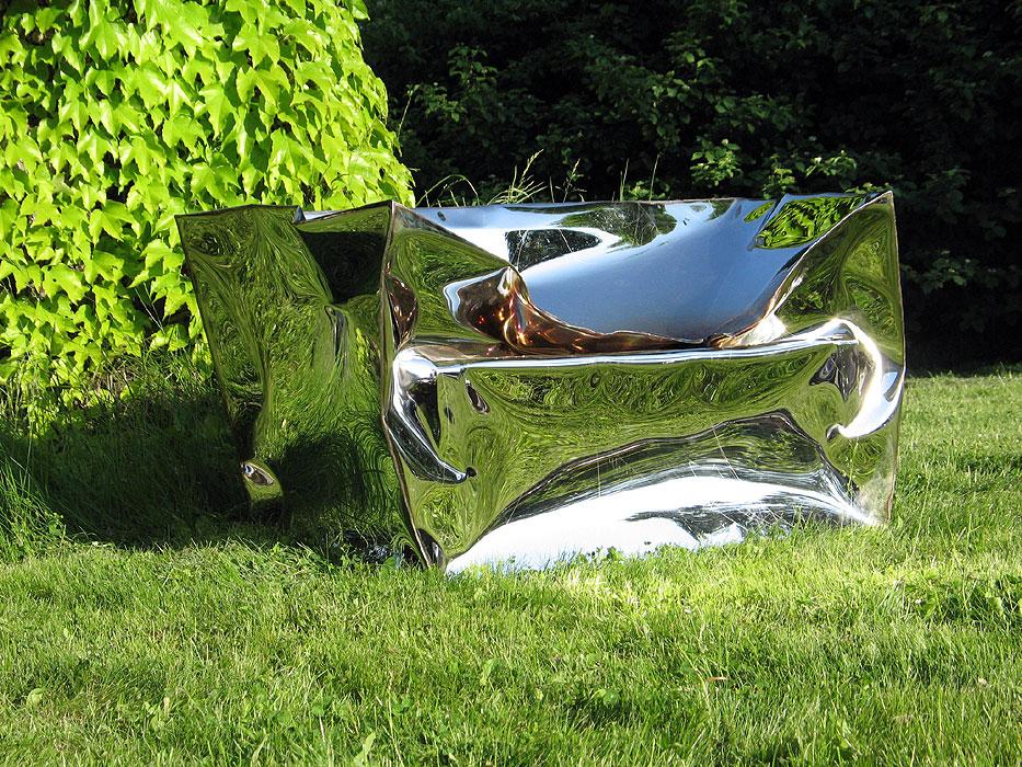 GAHR   Garden Sculpture Art Of Mirror Polished Stainless Steel