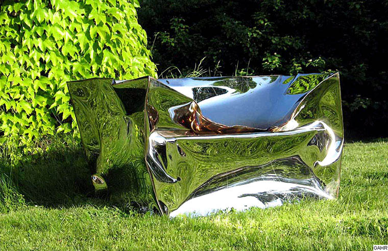 GAHR | Garden Sculpture Art of Mirror Polished Stainless Steel