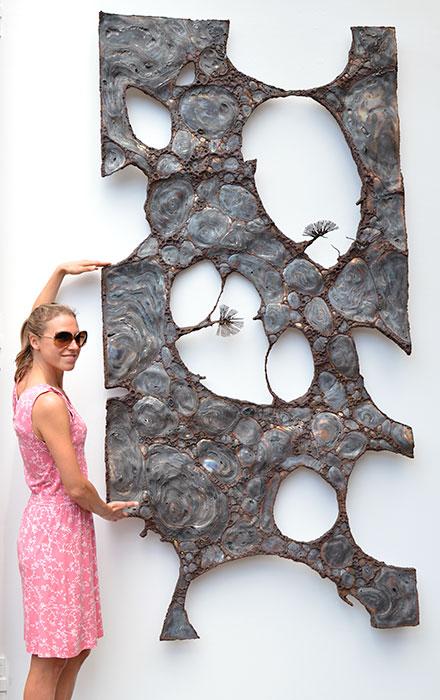 metal wall art modern wall sculptures gahr. Black Bedroom Furniture Sets. Home Design Ideas