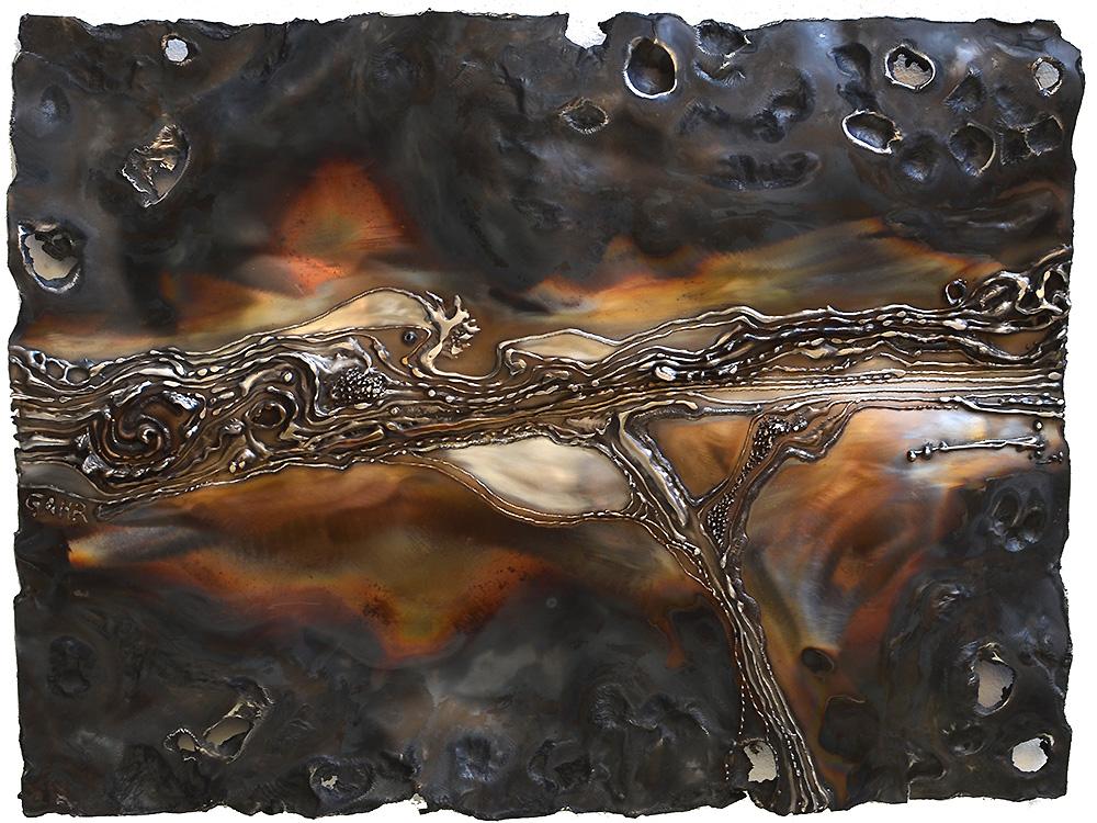 Metal wall art modern wall sculptures gahr for Modern wall art for sale
