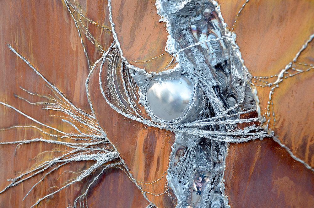 Large Metal Wall Art Artwork In Rusted Steel Gahr