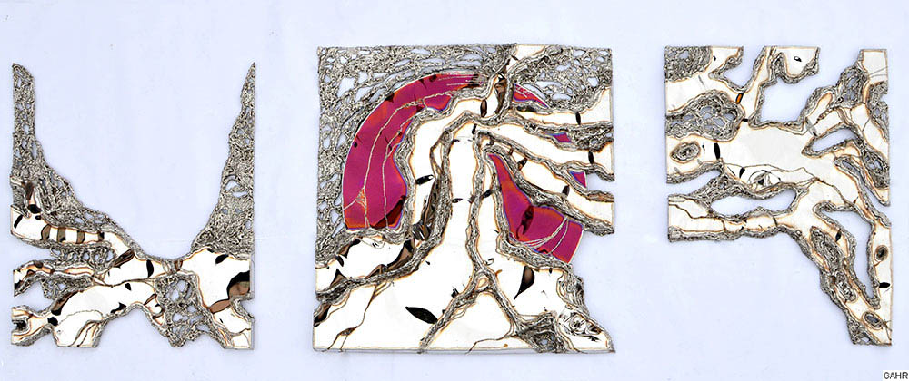 Modern Metal Wall Sculpture