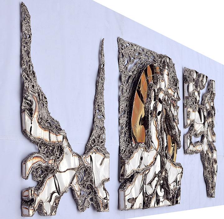 gahr modern metal wall sculpture welded artwork