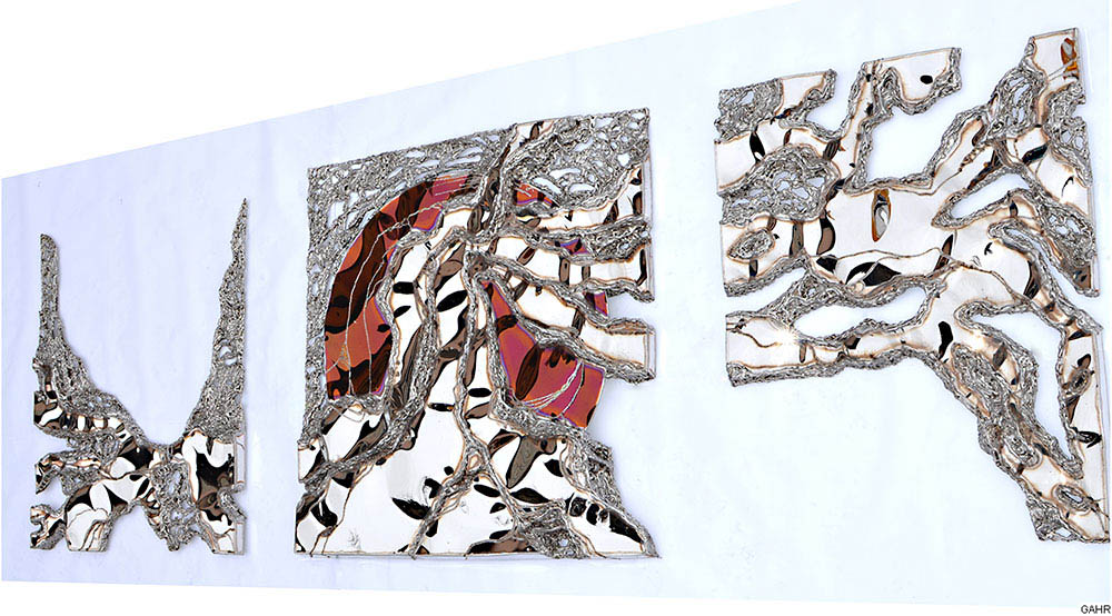 Modern Metal Wall Sculpture for Living Room