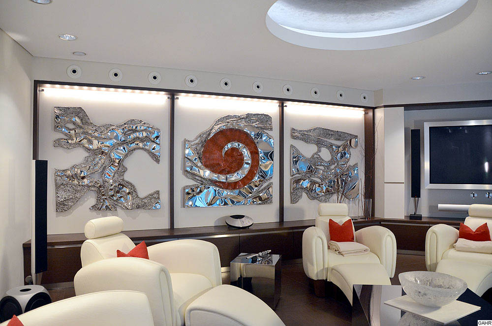 Modern Wall Sculptures in Stainless Steel
