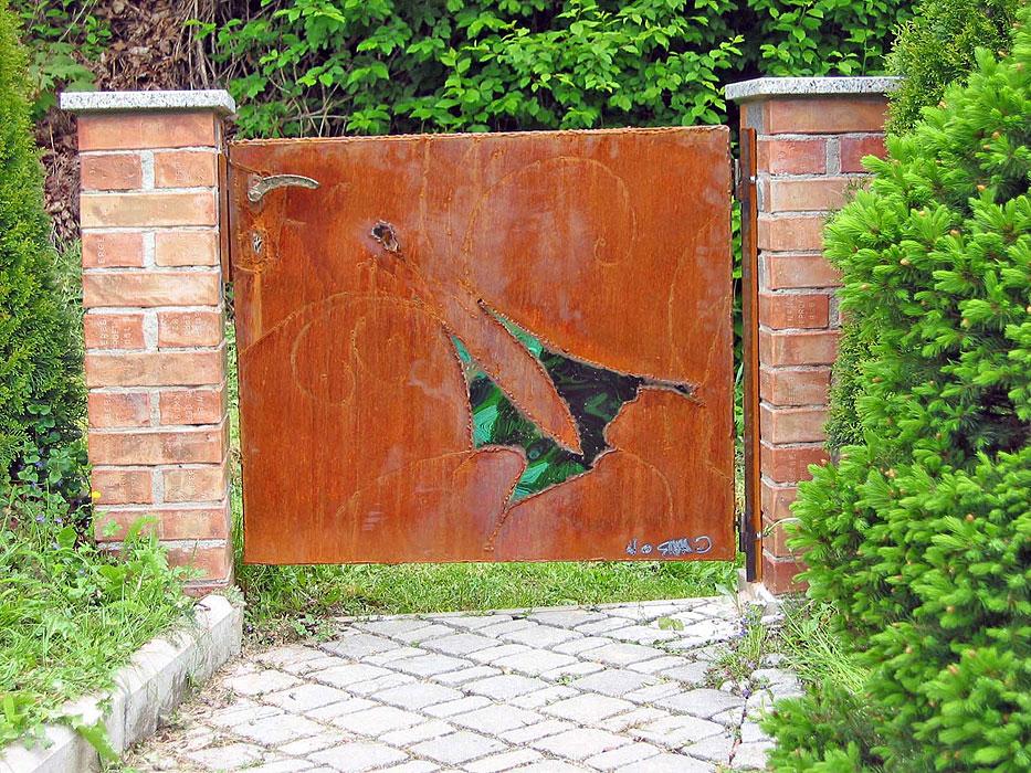 Garden Gate Welded In Corten Steel