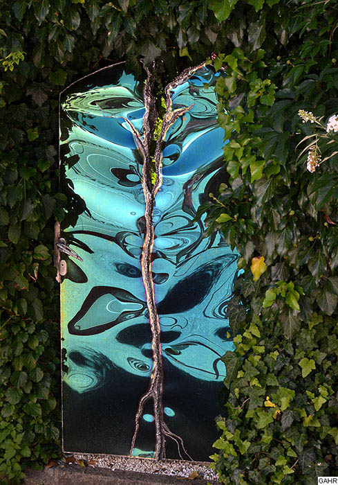 Artistic Garden Gate In Stainless Steel