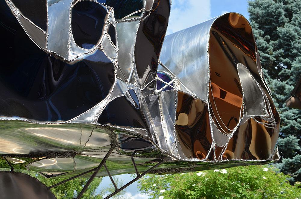 Gahr abstract metal sculptures modern garden