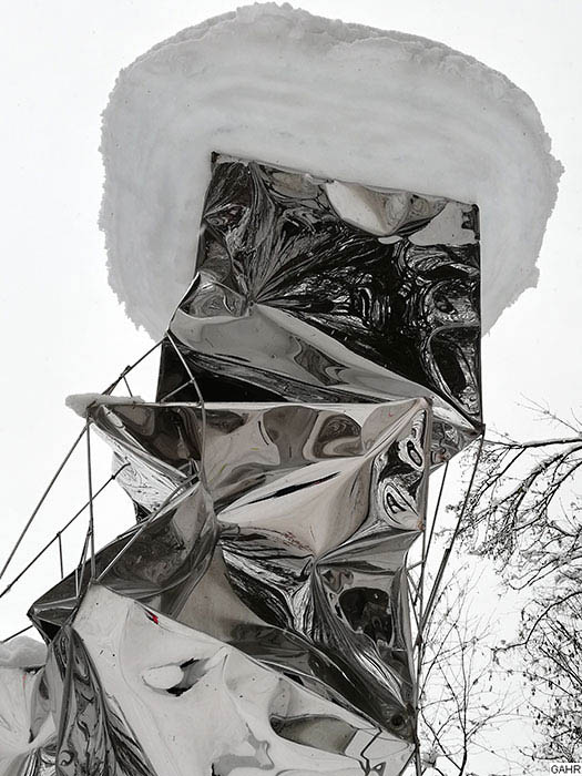 Polished Stainless Art Sculpture