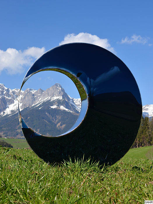 Round Outdoor Sculpture