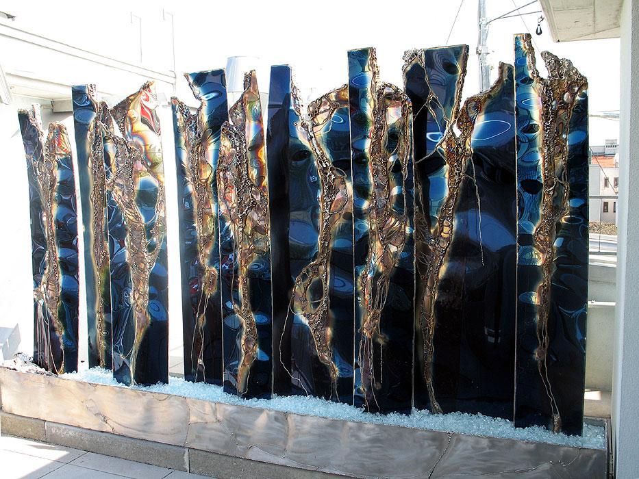 Modern Fountain Sculptures Applied Metal Art Gahr