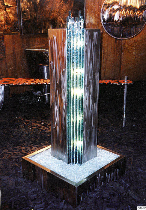 Standing Glass Fountain