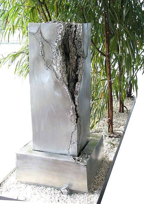 water fountain sculpture welded metal art gahr. Black Bedroom Furniture Sets. Home Design Ideas